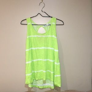 Cato Neon Green Striped Tank Top